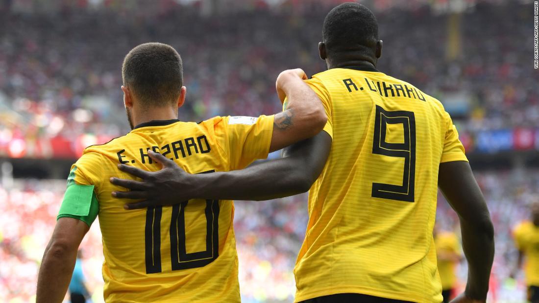 6d717caf0 World Cup  Romelu Lukaku and Eden Hazard star as Belgium rout Tunisia - CNN