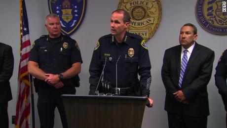 San Diego Police Chief David Nisleit said two officers were shot while responding to a disturbance on Saturday night.