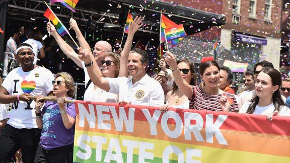Gov. Andrew Cuomo at the 2018 New York City Pride March