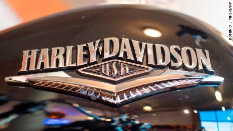 EU applies tariffs. General view of a Harley Davidson motorcycle, one of a number of US products set to be affected as European Union's retaliatory tariffs come into force today. Picture date: Friday June 22, 2018. The European Union is set to slap tariffs on 3.4 billion dollars (£2.5 billion) of American products, from whiskey and motorcycles to peanuts and cranberries after the US imposed tariffs on the bloc's steel and aluminium. See PA story EUROPE Tariffs. Dominic Lipinski/PA/AP