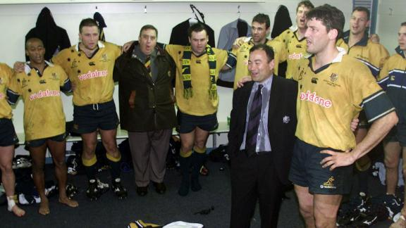 Jones'  Australia beat New Zealand twice in 2001 to win the historic Bledisloe Cup between the two sides.
