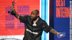 LOS ANGELES, CA - JUNE 24:  Davido accepts Best International Act onstage at the 2018 BET Awards at Microsoft Theater on June 24, 2018 in Los Angeles, California.