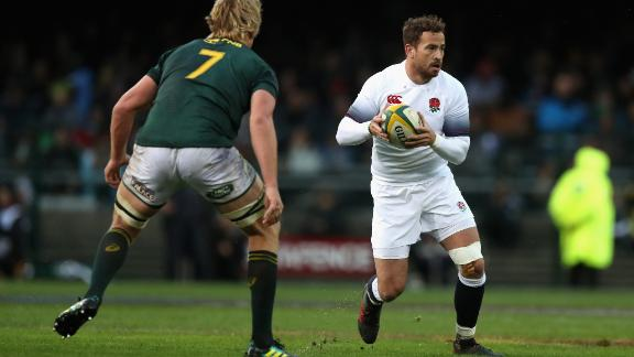 Danny Cipriani made his first start for England in a decade against South Africa, setting up the winning try
