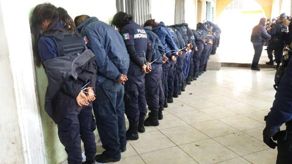 Michoacan State Police in Mexico said they detained municipal police of the city of Ocampo on Sunday.