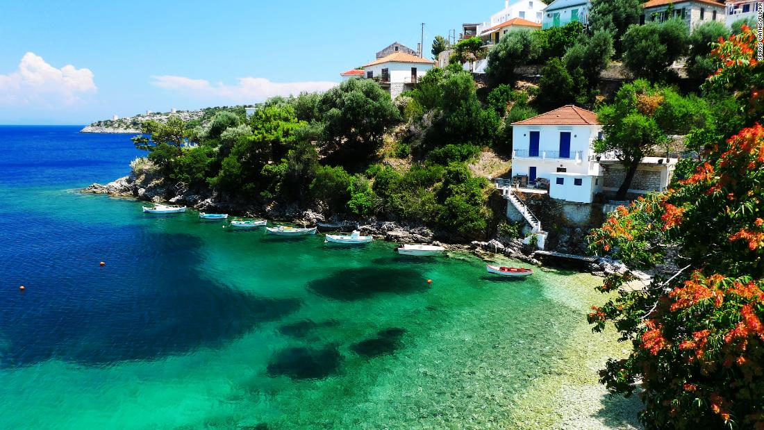 <strong>Greece, Ionian: </strong>With sun-baked beaches, turquoise waters, olive groves, deserted bays, rustic harbors with white-washed houses and spilling bougainvillea, the Greek islands provide the perfect canvas for a sailing odyssey. Kioni (pictured) is a charming town in the Ionian.