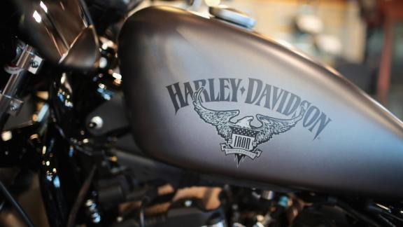 KENOSHA, WI - JUNE 01:  Harley-Davidson motorcycles are offered for sale at the Uke's Harley-Davidson dealership on June 1, 2018 in Kenosha, Wisconsin. The European Union said it plans to increase duties on a range of U.S. imports, including Harley-Davidson motorcycles, in retaliation for the Trump administration's new tariffs on EU metal exports.  (Photo by Scott Olson/Getty Images)