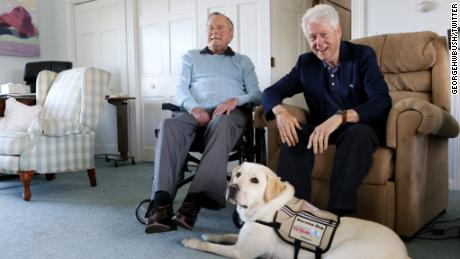 Sully spent time with former Presidents George H. W. Bush and Bill Clinton.