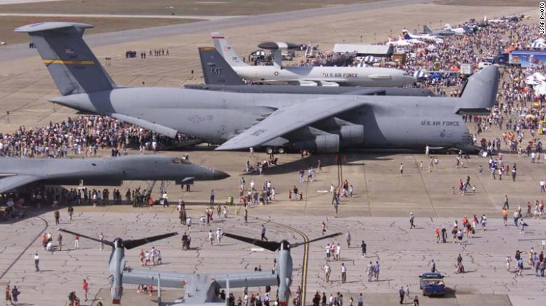 The largest airplane in the US military, the Air Force C-5 Galaxy dwarfs