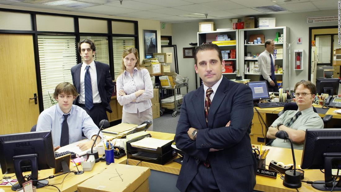 """The Office"" : To get you ready to return to work after the holiday, Comedy Central will feature a marathon of all the shenanigans at Dunder Mifflin Paper Company, beginning at 2 p.m. EST on Thanksgiving."
