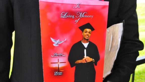 The cover of the funeral program for Jamel Dunn, 31, last July.
