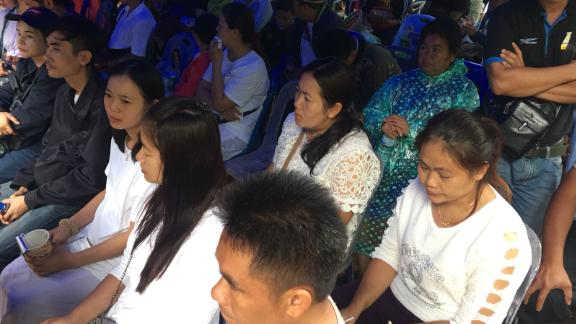 The parents of the missing boys have been at the site near Chiang Rai since Saturday.