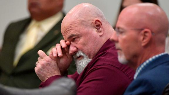 Frankie Gebhardt listens Tuesday as the verdict is read in his murder trial.