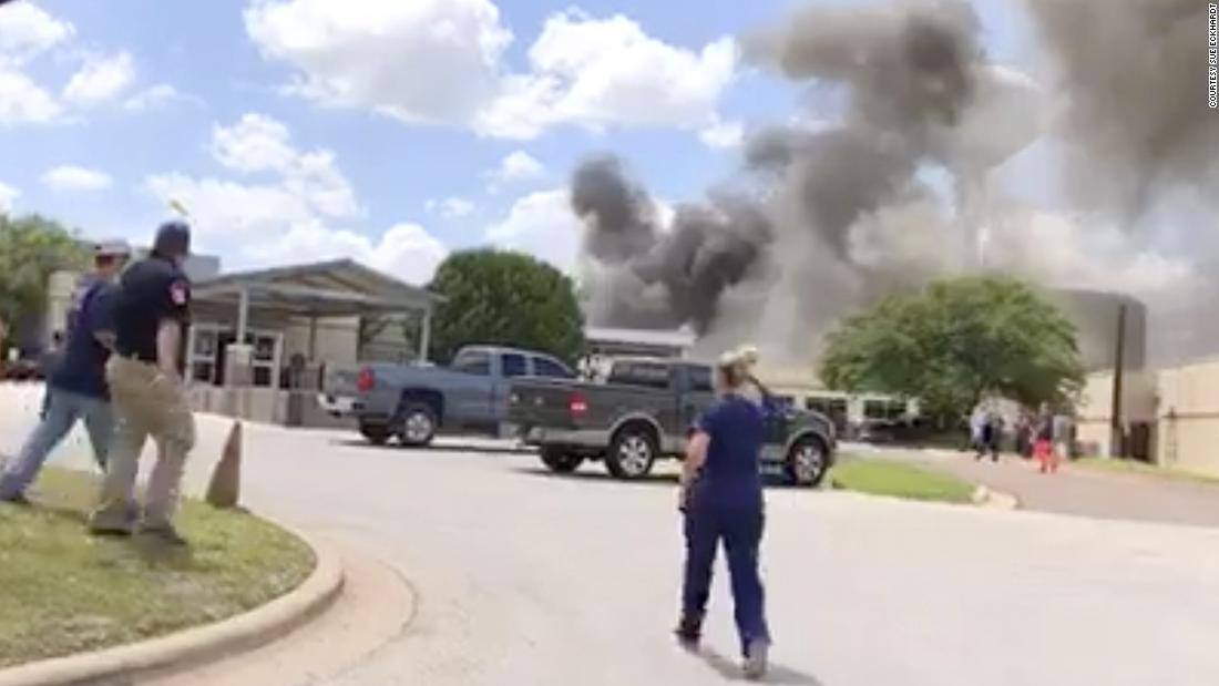 1 dead, 12 injured in Texas hospital campus fire - CNN Video