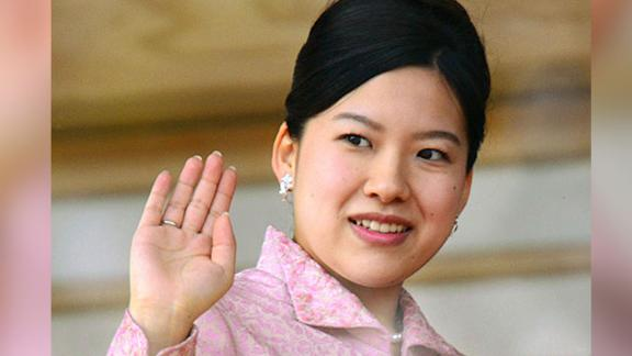 Japanese Princess Ayako greets well-wishers gathered at the Imperial Palace in Tokyo.