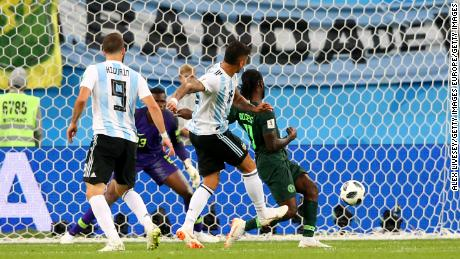 Marcos Rojo scores the winner for Argentina