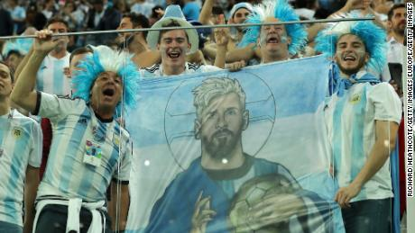 Argentina fans celebrate victory