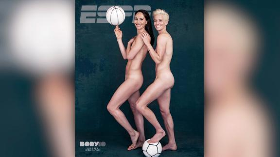Rapinoe with girlfriend Sue Bird on the cover of ESPN