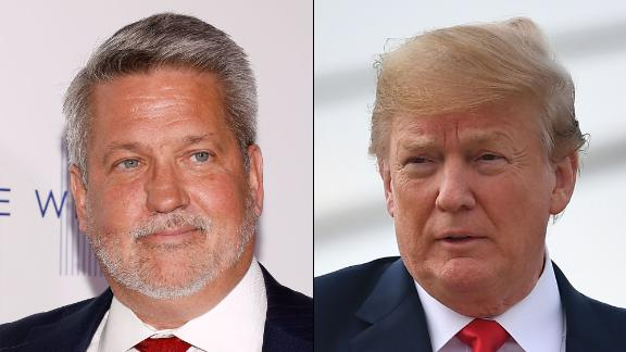 Bill Shine, left, and President Donald Trump