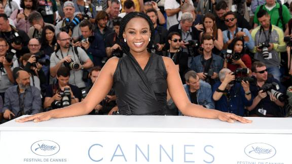 """Director Wanuri Kahiu attends the photocall for """"Rafiki"""" during the 71st annual Cannes Film Festival at Palais des Festivals on May 9, 2018 in Cannes, France."""