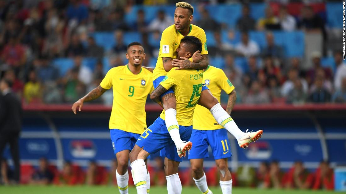 d44506638af World Cup 2018  Brazil sets up last-16 tie against Mexico after beating  Serbia 2-0 - CNN
