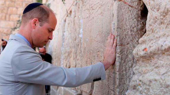 The Duke of Cambridge at the Western Wall.