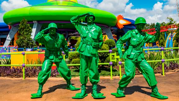 """The """"little green army men"""" will be going co-ed this weekend at Toy Story Land in Orlando."""