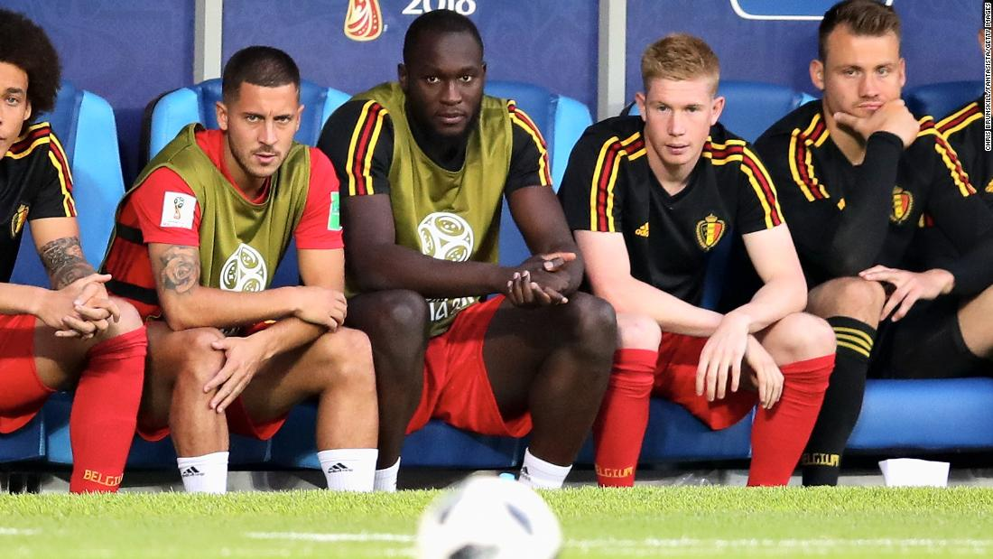 The Belgium-England match was notable for how many top players didn't see the field. With both teams already assured a spot in the knockout stage, many of their usual starters took the night off. Among those on the bench for Belgium were captain Eden Hazard, Romelu Lukaku and Kevin De Bruyne.