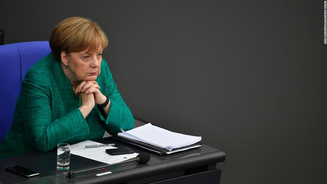 "German Chancellor Angela Merkel attends a session at the Bundestag, the lower house of Germany's Parliament, on June 28. She pressed lawmakers <a href=""https://www.cnn.com/2018/06/28/europe/eu-summit-migration-merkel-intl/index.html"" target=""_blank"">to back a tough but humane asylum and migration policy</a> for the European Union."