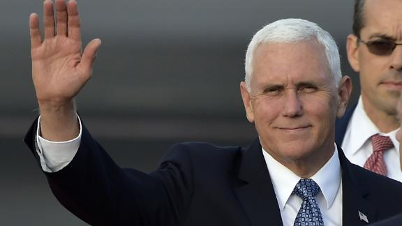 US Vice President Mike Pence waves upon arrival at Mariscal Sucre airport in Quito on June 27, 2018. - Pence visits Ecuador as part of a Latin American tour. (Photo by RODRIGO BUENDIA / AFP)        (Photo credit should read RODRIGO BUENDIA/AFP/Getty Images)