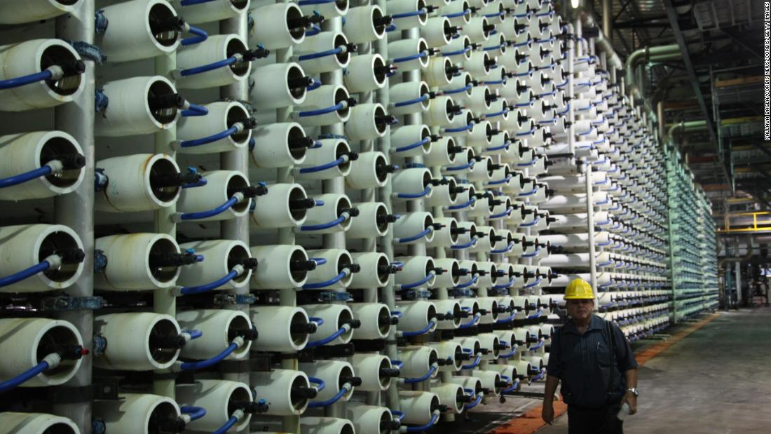 "To overcome water scarcity and meet increasing demand, MENA countries have long been producing their own water. A popular method is to separate salt from seawater in a process called desalination. Approximately<a href=""http://blogs.worldbank.org/arabvoices/numbers-facts-about-water-crisis-arab-world"" target=""_blank""> 75% of worldwide desalinated water</a> is produced in MENA, at plants like this one in Tel Aviv, Israel."