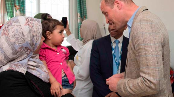 The Duke of Cambridge visits the Jalazone refugee camp north of Ramallah.