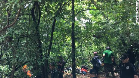 Trekkers have to navigate through dense jungles and difficult off-road terrain on their way to the chimney.