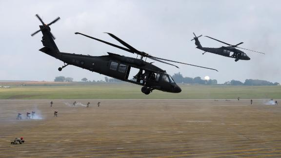 UH-60 Black Hawk helicopters take part in Taiwan drills  simulating Chinese attacks in June 2018.