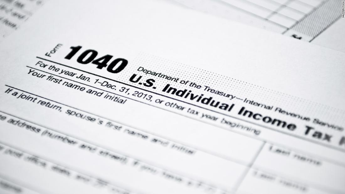 Irs Shrinks The 1040 Tax Form Cnnpolitics