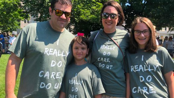 The Ickowitz family takes part in Saturday's Washington rally. They are, from left to right, Mike, 39; Jake, 9; Tanya, 40; and Rachel, 12.