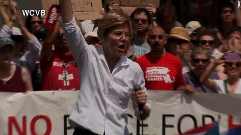 Elizabeth Warren: US immigration a moral crisis