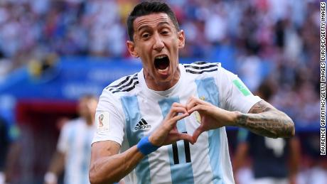 Di Maria's equaliser was the longest-range goal scored so far at the World Cup