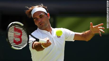Roger Federer is chasing a record-extending ninth Wimbledon singles title.