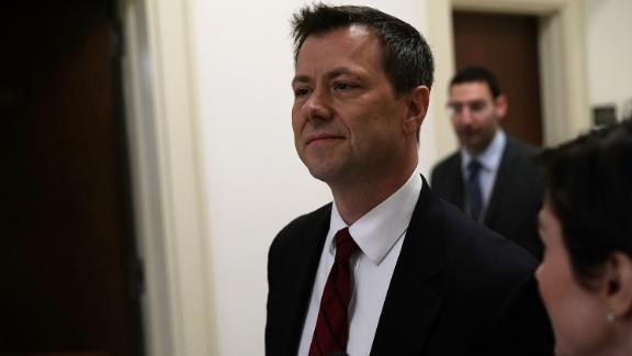 FBI Agent Peter Strzok arrives at a closed door interview before the House Judiciary Committee June 27, 2018 on Capitol Hill in Washington, DC.