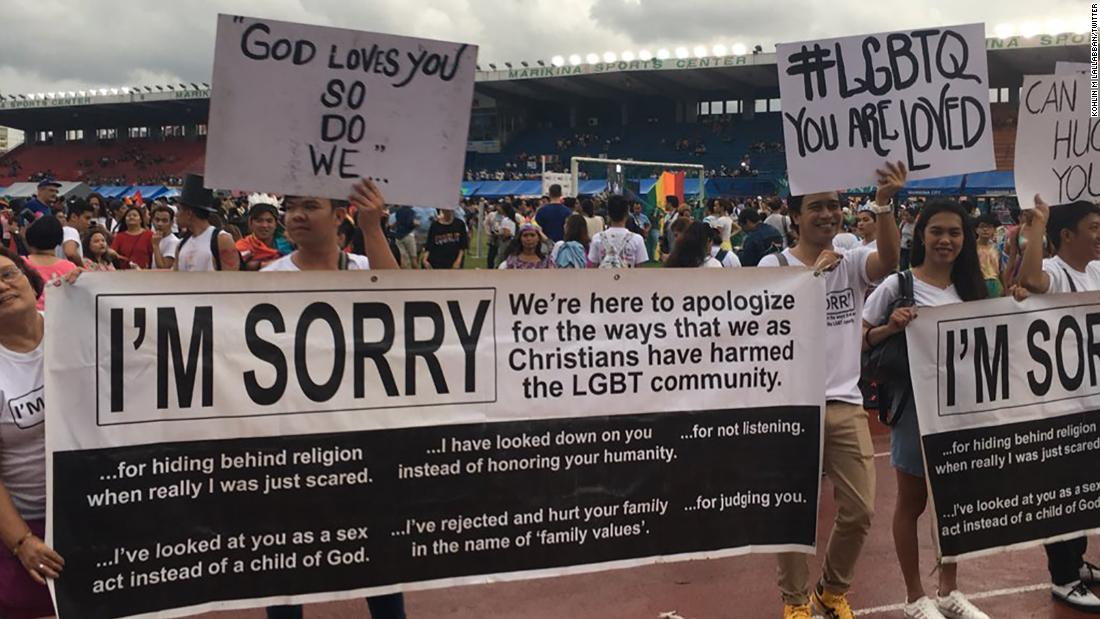 A group of Christians attended a pride parade to apologize for how they've treated the LGBT community