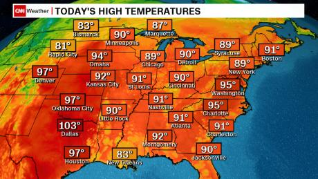 Weather Map East Coast Heat wave sweeping East Coast turns deadly   CNN Video