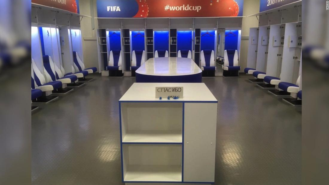 After defeat, Japan's World Cup team leaves behind a spotlessly clean locker room and a 'thank you' note