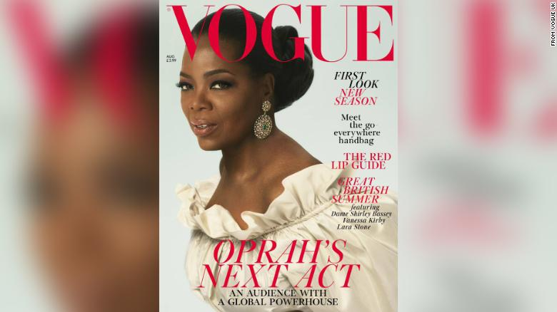 Oprah Winfrey on next month's cover of British Vogue.