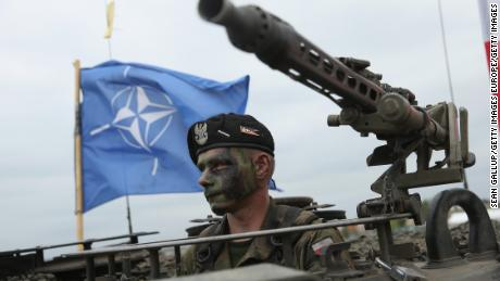 . According to the NATO report, only seven members achieve the defense goals.