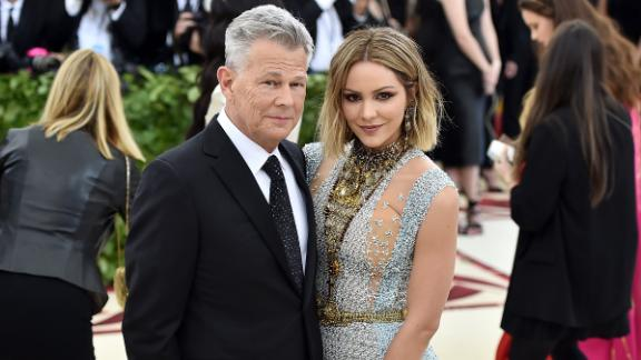 Recording artist David Foster and Katharine McPhee attend the Heavenly Bodies: Fashion & The Catholic Imagination Costume Institute Gala at The Metropolitan Museum of Art on May 7, 2018 in New York City.