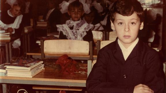 Lev Golinkin as a child