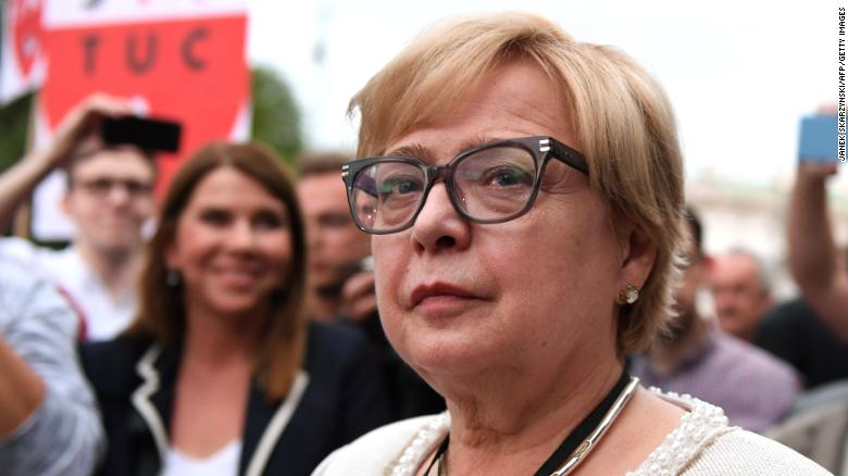 Warsaw wants her out. But Poland's top judge says she's staying put
