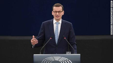 Morawiecki said the bill would help resolve a stalemate over the refusal of the current head of the court to step down.