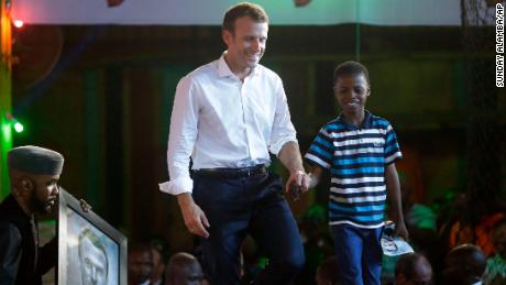The 11-year-old Nigerian artist who moved President Macron