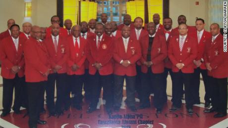 Members of the Tuscaloosa alumni chapter of Kappa Alpha Psi, in a 2018 photo.